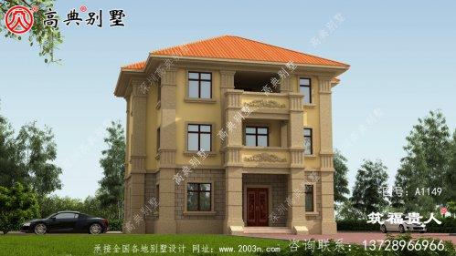 法式风格三层自建房子效果图