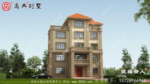 五层带阳台精致新颖别墅