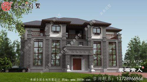 中式三层别墅设计图纸双拼别墅(两户)