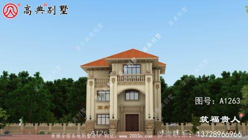 三层的美丽大气欧式风格别墅