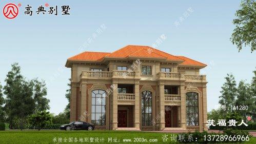 三层新别墅的设计可以同时容纳两个家庭。