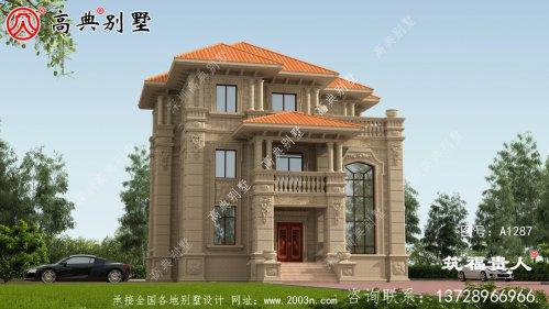 独栋自建别墅设计图,大方时尚