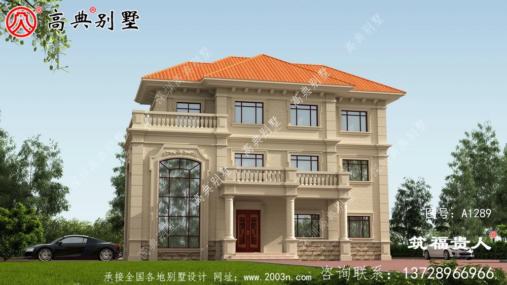 大气三层房屋设计图带阳台图片