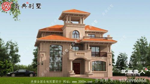 精品三层复式别墅设计图,采光良好