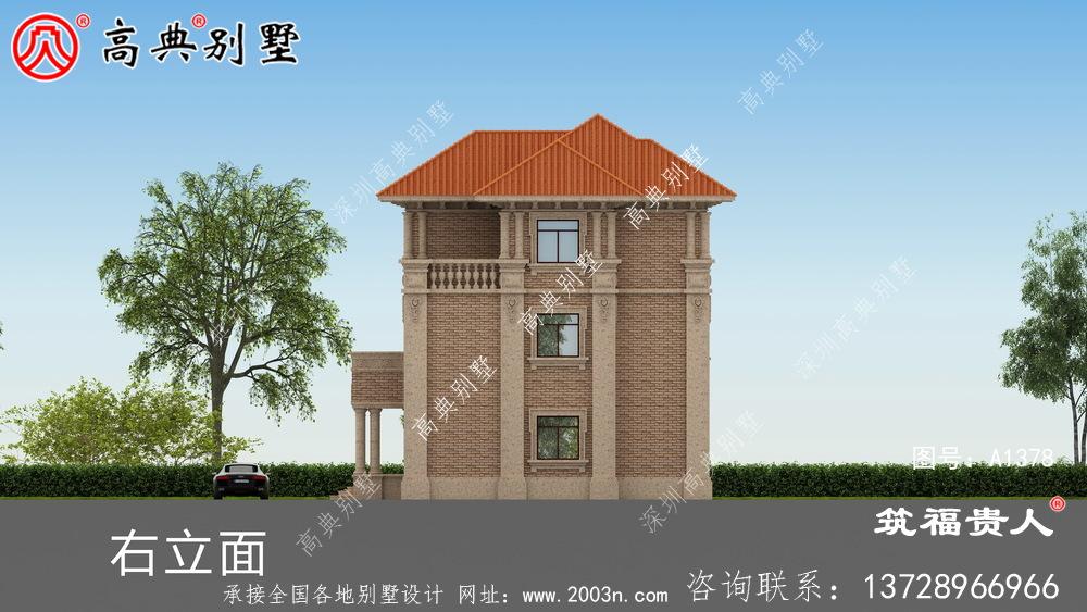 新颖别致三层楼房设计图图片