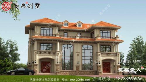 三层新别墅的设计,双拼别墅(两户)