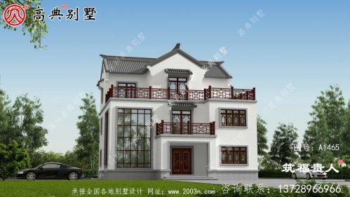 经济实用的中式三层别墅