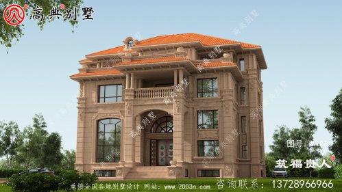四层石材别墅设计效果图