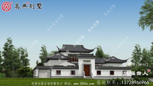 新中式两层房屋设计效果图