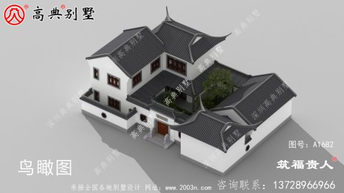 新中式二层自建别墅设计图