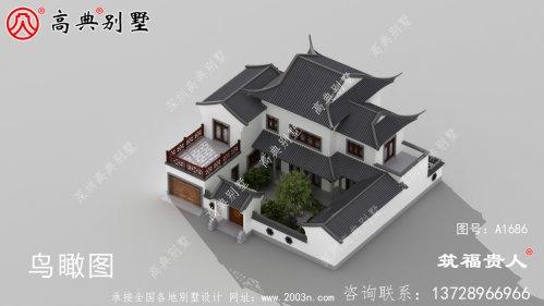 院子别墅中式房屋设计图