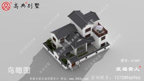 三层四合院别墅设计