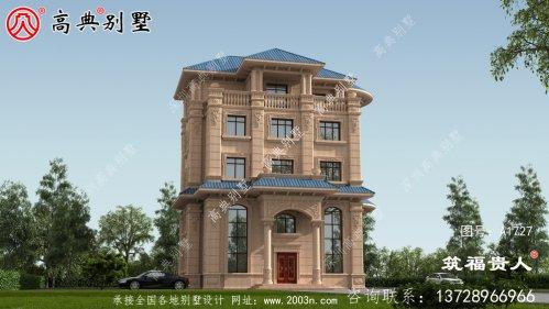 欧式五层别墅设计图