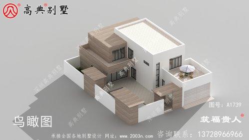 现代两层小别墅,经济实用。