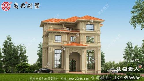 舒适大户型欧式四层别墅设计图