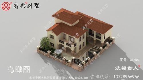 院子两层自建别墅设计图