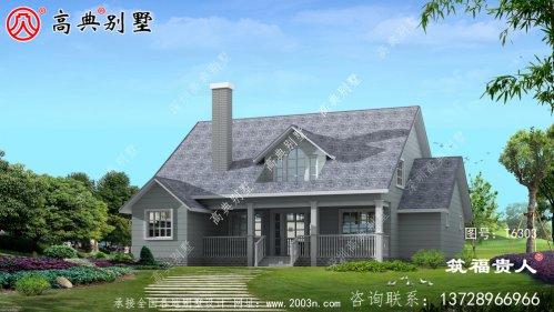 美式单层别墅外观效果图