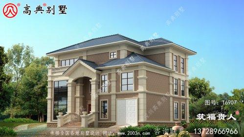 简单和时尚的两层半别墅设计图