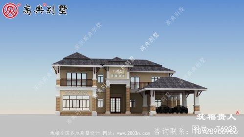 最新设计的两层美式风格别墅