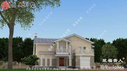 两层欧式小别墅,漂亮美观又造价低