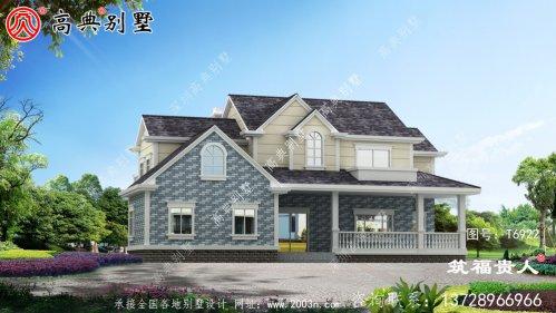 美式两层别墅设计图,户型完美