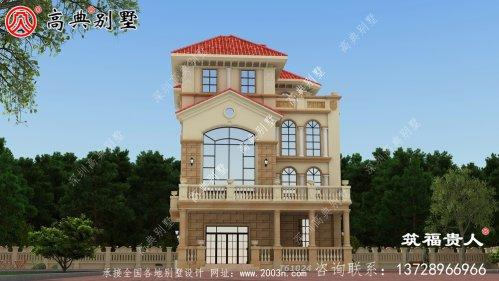欧式四层别墅建筑图纸
