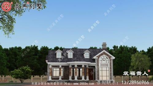 法式风格单层别墅设计图