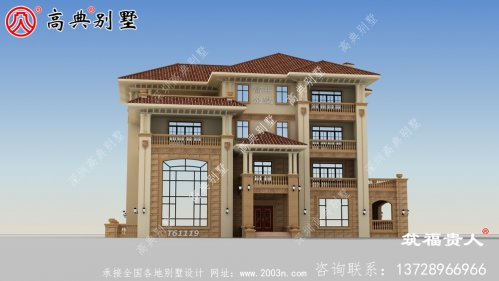 大户型房子四层豪华别墅设计图