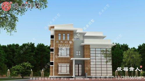 四层现代风别墅,施工简单,造价低