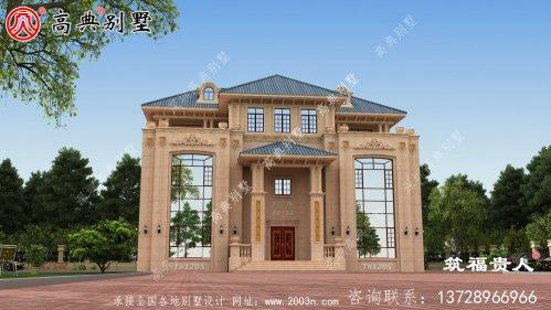 非常美丽的欧式别墅设计图
