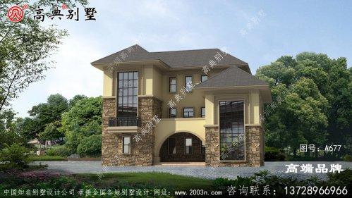 欧式风格新农村三层别墅设计图