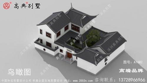 两层院子别墅效果图