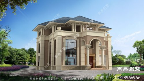 复式三层欧式新农村别墅设计图