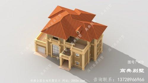 三层经典欧式别墅外观设计图