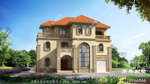 奢华大户型房子三层欧式别墅设计图