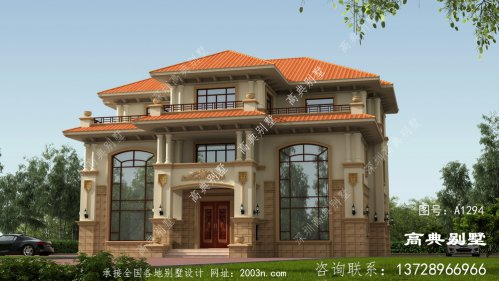 别墅设计图三层房型,外型空气