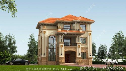 意大利风格三层别墅,建在农村简单又大气