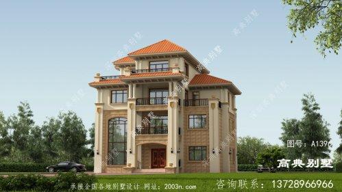 欧式风格四层精巧别墅自建设计图
