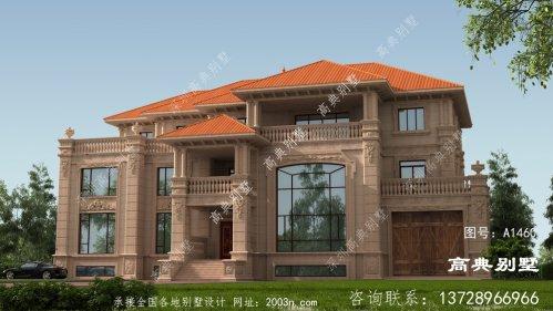 豪华复式三层欧式石材别墅图纸设计