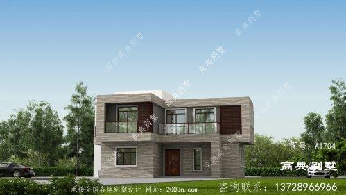 一款布局细致的现代风格平屋顶别墅