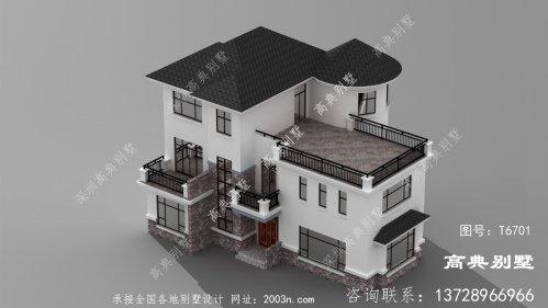 现代三层别墅效果图