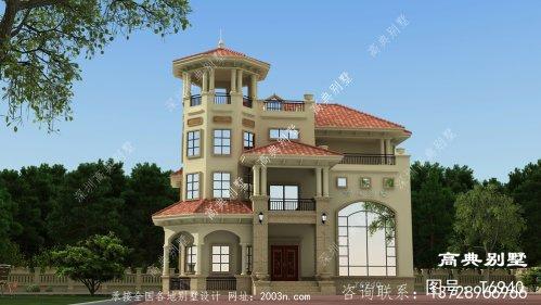 豪华大户型欧式三层别墅建成这样,全村人都赞不绝口