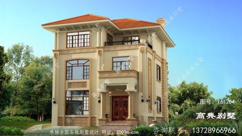 布局实用大气的意大利风格三层别墅
