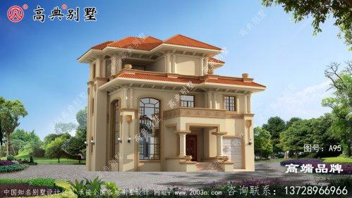 欧式三层农村建别墅设计图,房间形状非常漂亮