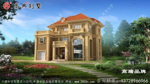 复式三层的欧式自建别墅设计图