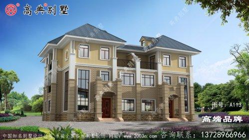 年轻人一定喜欢的法式三层双拼别墅住宅图