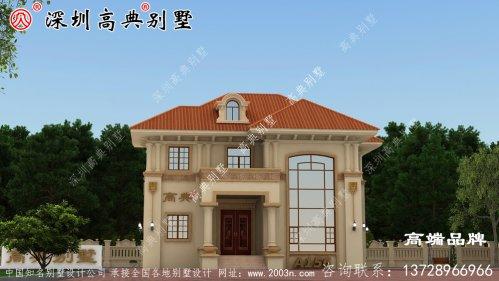 二层别墅 设计图纸 以及 户型图 ,外观 精致 美