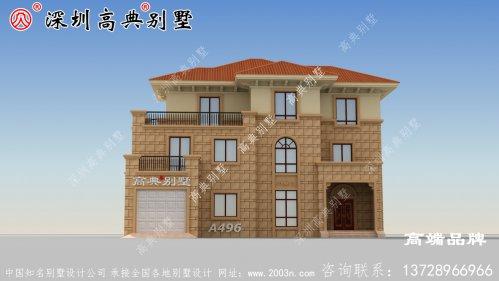 三层别墅设计图,经济适用,农村建房首选