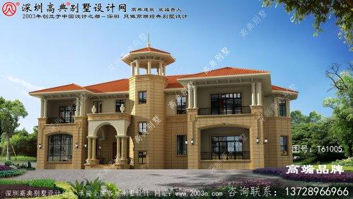 两层自建房设计图,外观比较干净简约